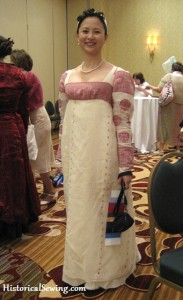 Claudine's amazing Regency in cotton sari