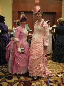 Pink Bustle Dresses