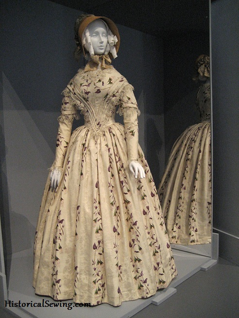 1845-49 Silk Dress at LACMA