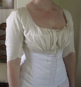 Regency Bodice Fitted Mockup