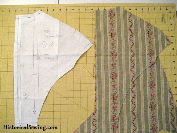 Lay cut back on fabric