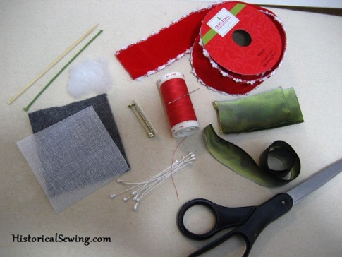 Ribbon rose supplies