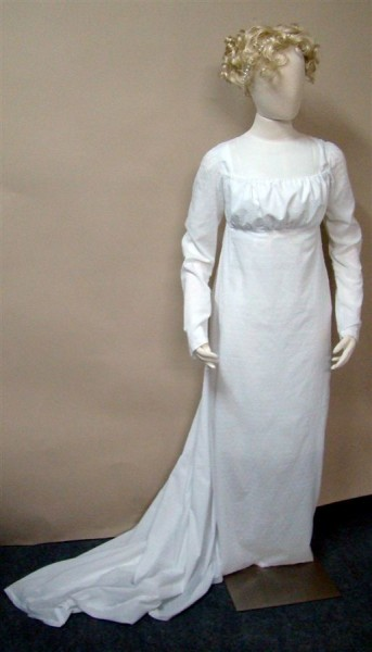 1800 White Dress front