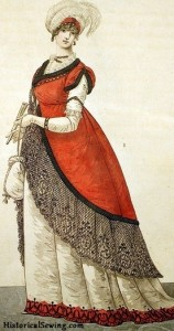 1800 Lady with Reticule Bag