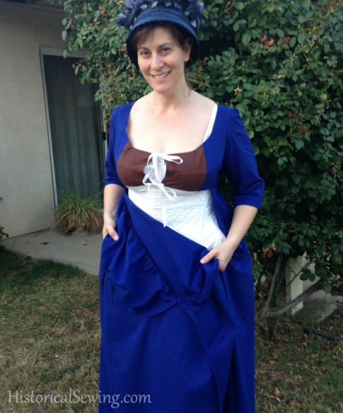 1805 lining on apron front dress