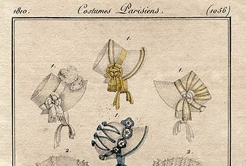 1810 Bonnets from Costumes Parisiens