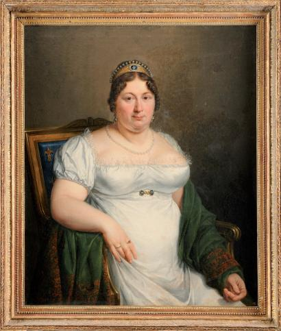 1810 portrait of the Comtesse de Provence, wife of Louis XVIII, attributed to Marie-Eleonore Godefroid