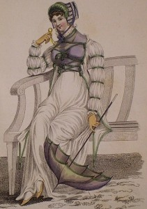 1811 July Promenade Dress in La Belle Assemblee