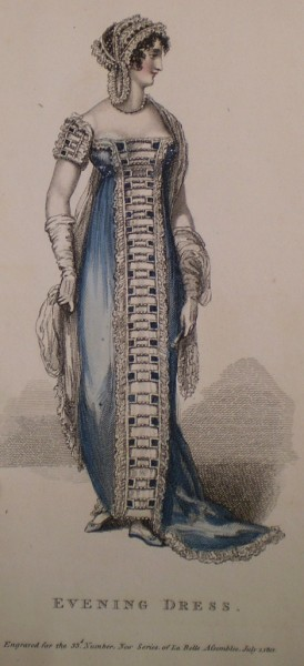 1812 July La Mode Assembly Evening Dress
