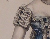 1812 July Evening Dress sleeve
