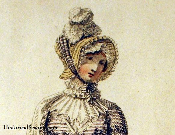 1814 Walking Dress & Bonnet