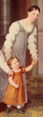 Long bound sleeve as painted in the 1818 Nathanson Family portrait