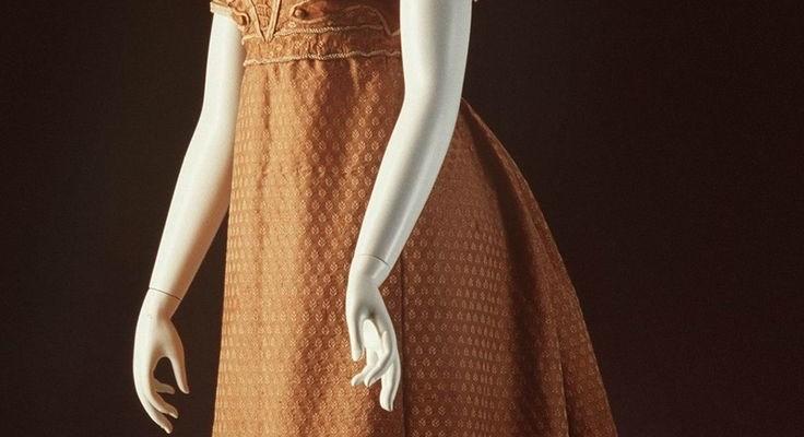 Deconstruction: 1820 Copper Evening Gown