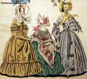 1838 Full Skirted Dresses