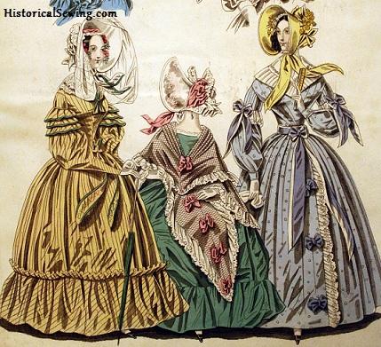 1838 Full Skirted Dresses