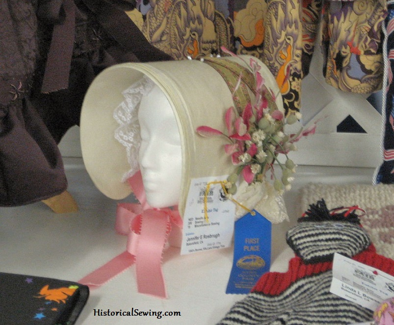 1840s Yellow Cottage Bonnet at Fair