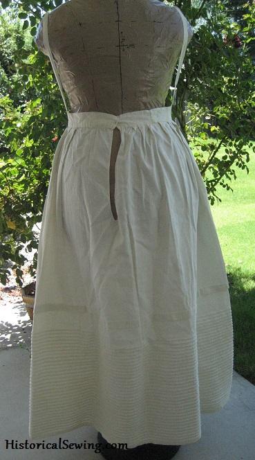 1840s Woven Corded Petticoat back sm