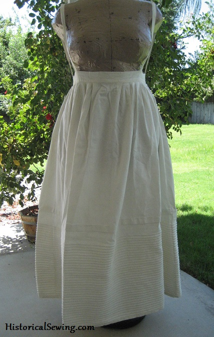 1840s Woven Corded Petticoat front sm