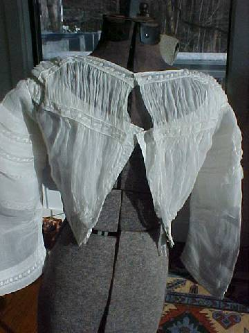 1840s cotton bodice underbodice from Old Sacramento Living History Program