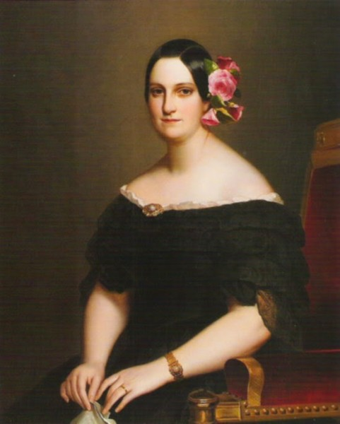 1841 María Cristina of the Two Sicilies by Winterhalter