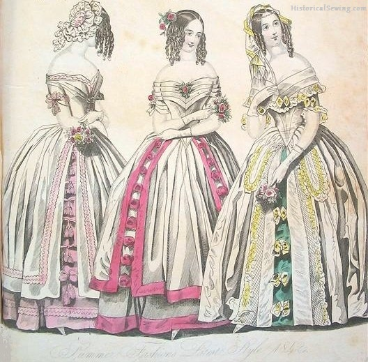 1842 -skirt trims sewn up to the waist