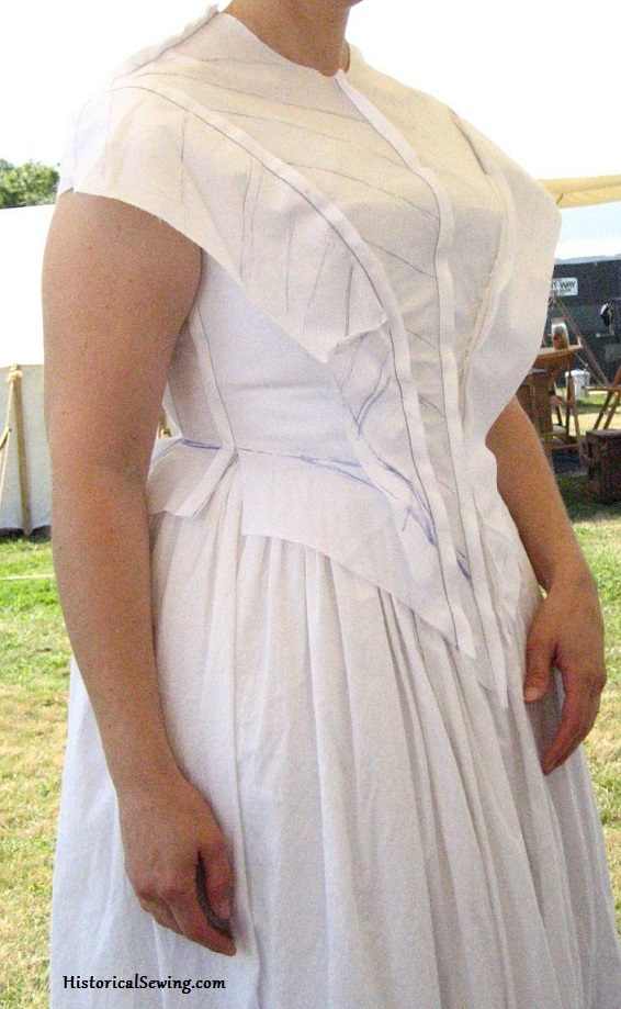 1844 Bodice fitting