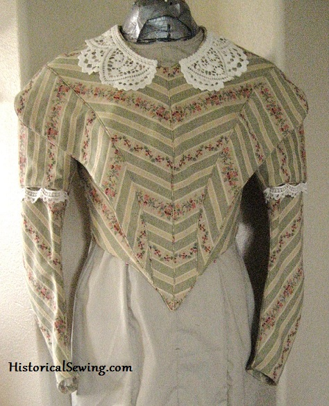 1844 Striped Bodice