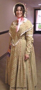 1844 Striped Summer Dress