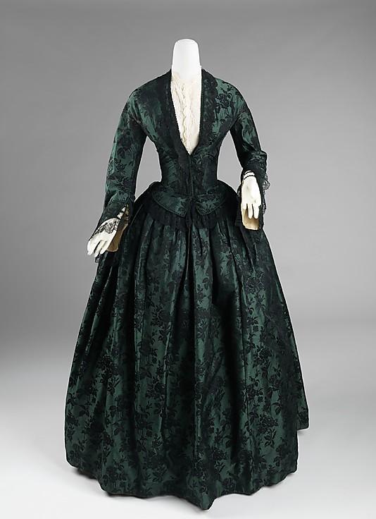 1850-55 Evening Dress