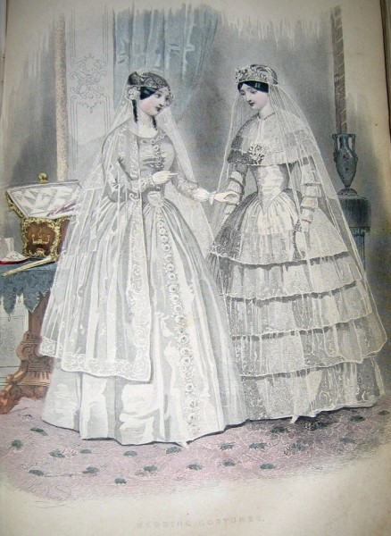 1850 Godey's Wedding Costumes
