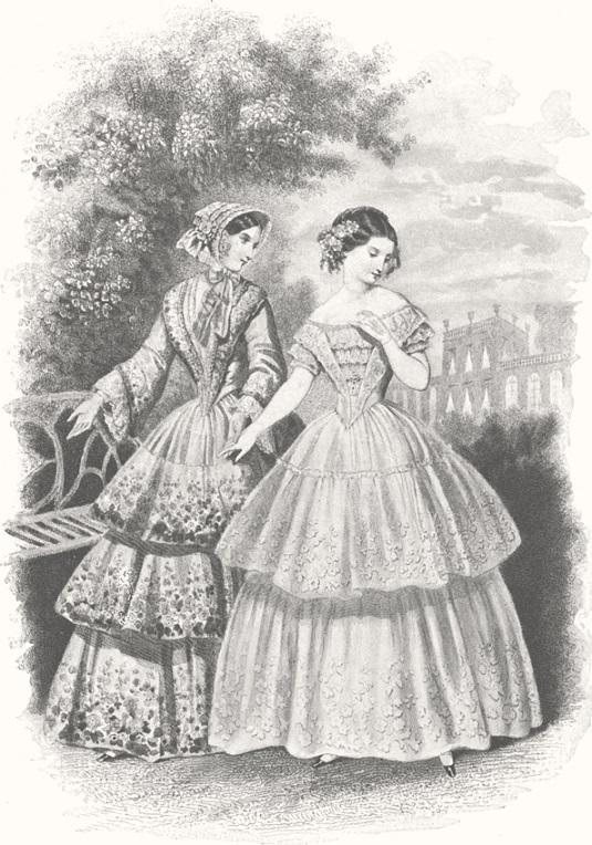 1851 Les Mode Parisiennes plate