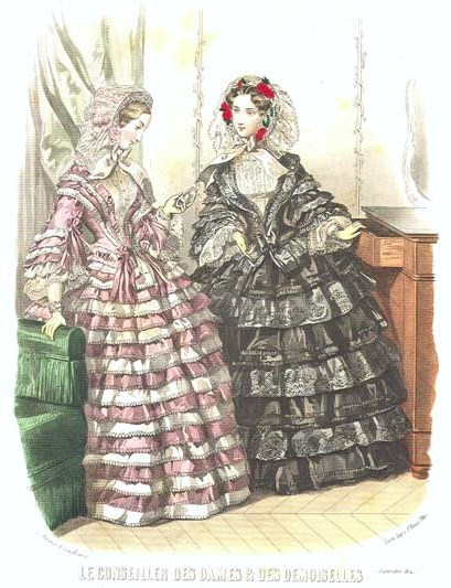 Ruffle Calculations for Height Differences | HistoricalSewing.com