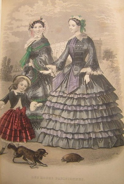 1855 Peterson's Purple Ruffle Skirt