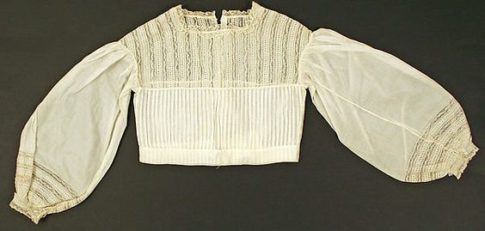 1860s Chemisette with full sleeves from Met Museum