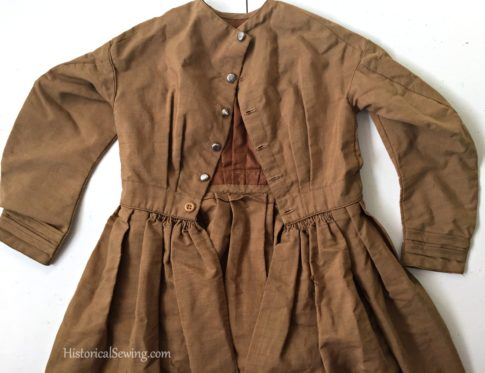 1860s (or 1870s) Original Girl's Dress | HistoricalSewing.com