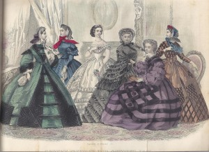 Seamlines of 1860s Fashions