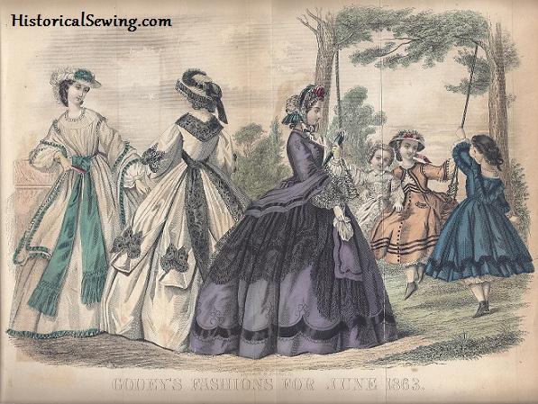 1863 June Godey's