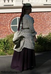 1871 Bustle Dress side | HistoricalSewing.com