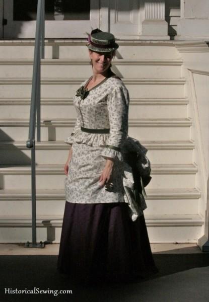 1871 Harvest Grape Dress