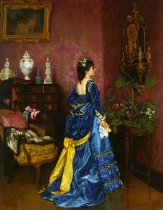 A Breakdown of How to Make the 1872 Blue Velvet Dress