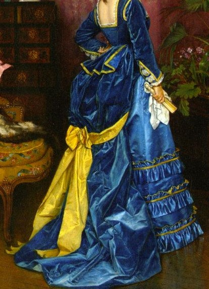 1872 The Blue Dress - back