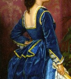 1872 The Blue Dress bodice