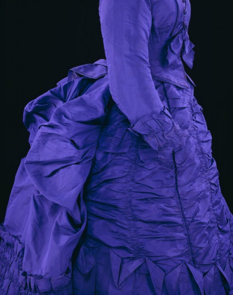 1873 V&A Purple Silk Dress