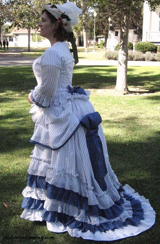 1875 Summer Striped Dress