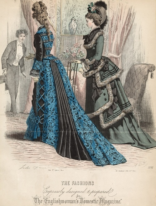February 1876 fashions from The Englishwoman's Domestic Magazine