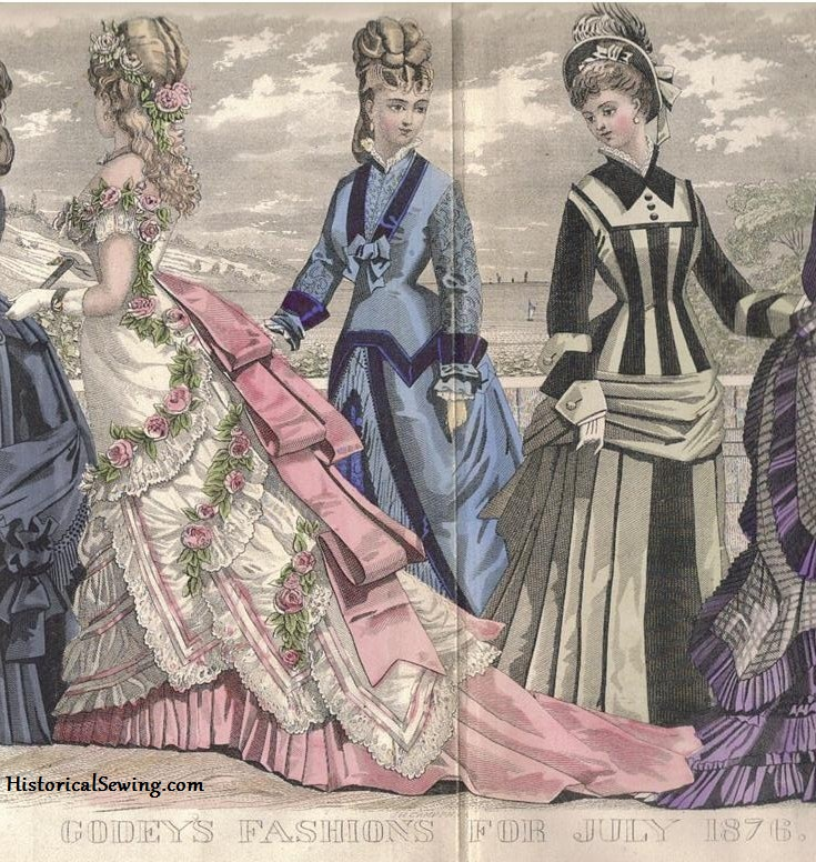 1876 Godey's Fashion Plate