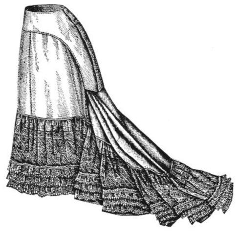 1877 trained petticoat