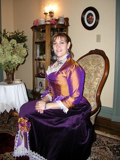 1879 Dress Made from JoAnn's fabrics