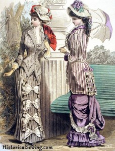 1880 August Walking Dresses, Journal des Demoiselles