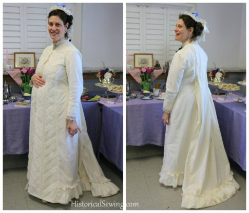 1880 Gown front & back